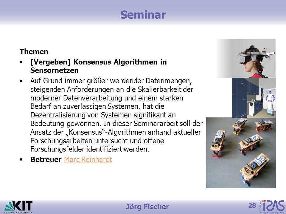 Seminar Themen [Vergeben] Konsensus Algorithmen in Sensornetzen